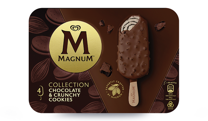 4 Magnum Chocolate & Crunchy Cookie