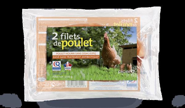 2 filets de poulet