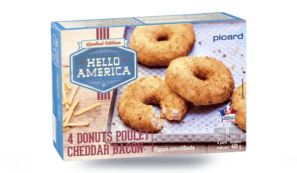 4 donuts poulet cheddar bacon