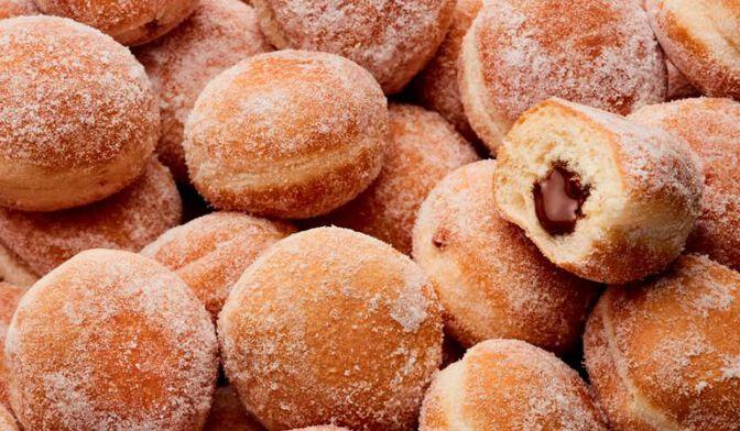 8 mini-beignets cœur chocolat-noisette