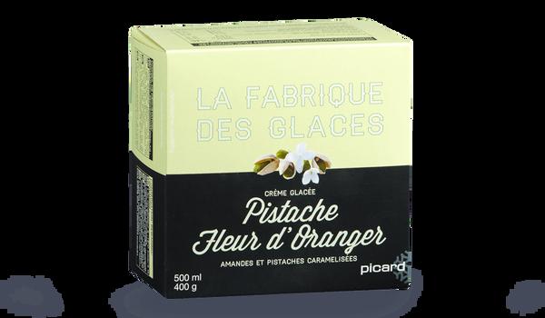 Crème glacée Pistache-fleur d'oranger
