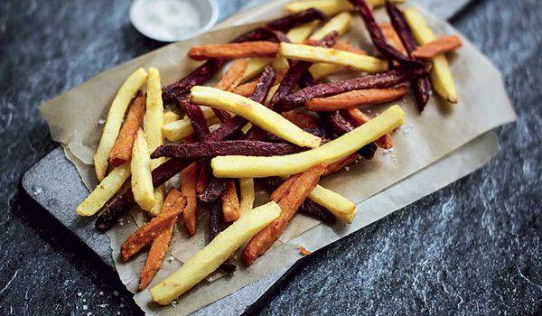 Inédites trois légumes, carottes,panais,betteraves