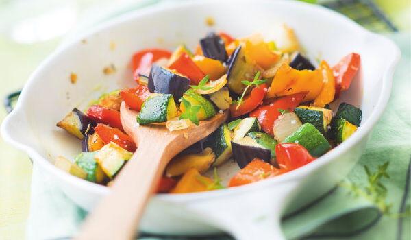 Poêlée de légumes grillés courgette, aubergine