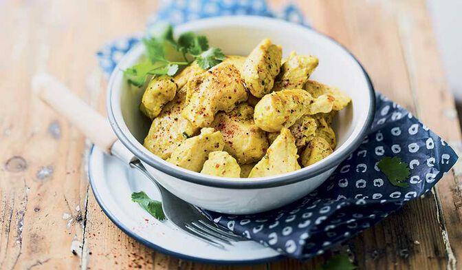 Bouchées de filet de poulet curry coco