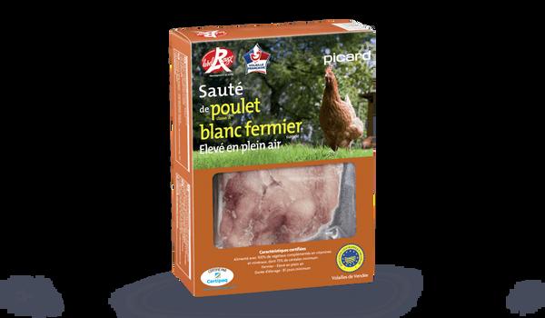 Sauté de poulet blanc fermier, Label Rouge