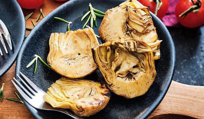 Demi-artichauts grillés