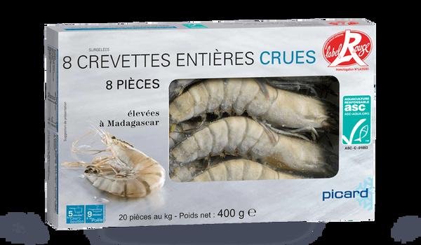 8 crevette tropicale crue ASC (20 au kg)Madagascar