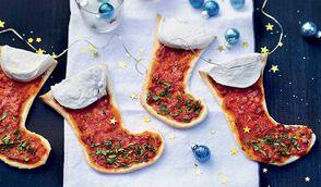 Mini pizzas bottes de Noël