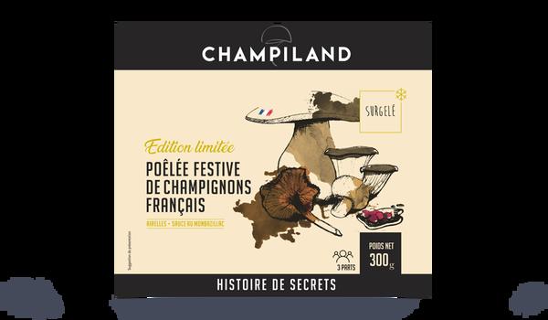 Poêlée festive de champignons français, Champiland