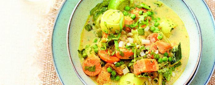 Curry de légumes au lait de coco