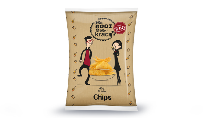 Chips goût barbecue Mr Goot <(>&<)> Mme Kracq