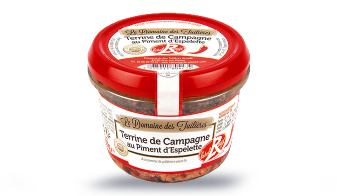 Terrine de campagne au piment d'Espelette Label Rouge