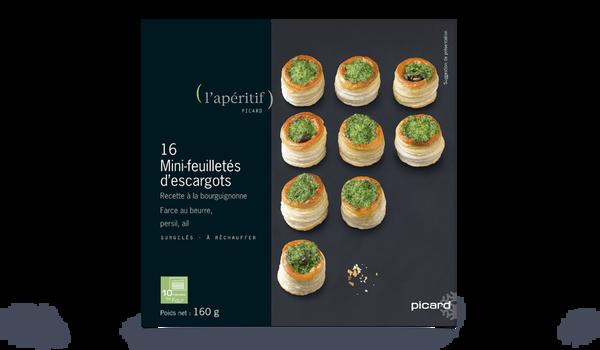 16 mini-feuilletés d'escargots, à la bourguignonne