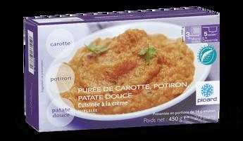 Purée de carotte, potiron, patate douce