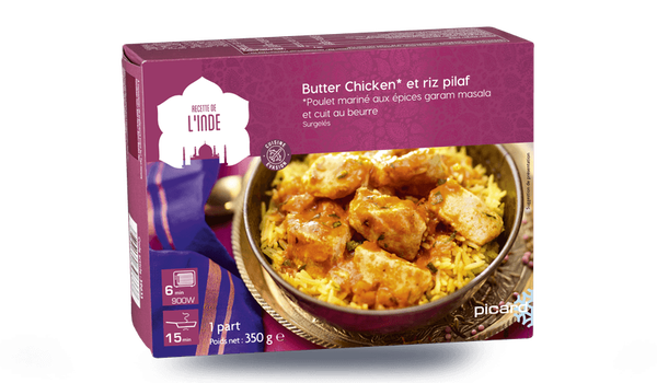 Butter chicken et riz pilaf