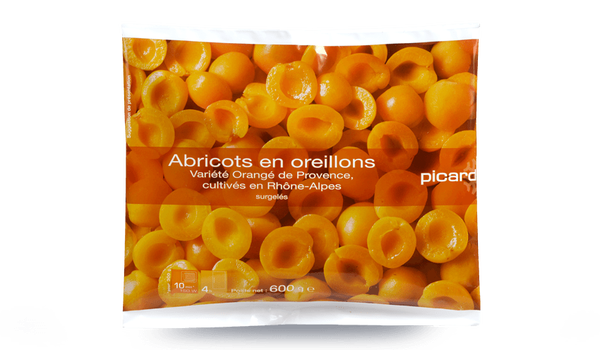 Abricots en oreillons, France