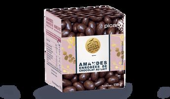 Amandes enrobées de chocolat au lait