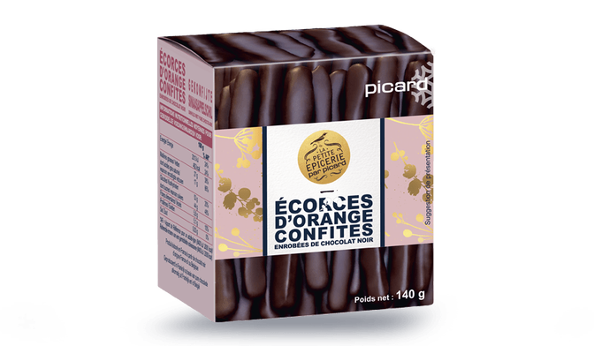 Ecorces d'orange confites enrobées de chocolat noir