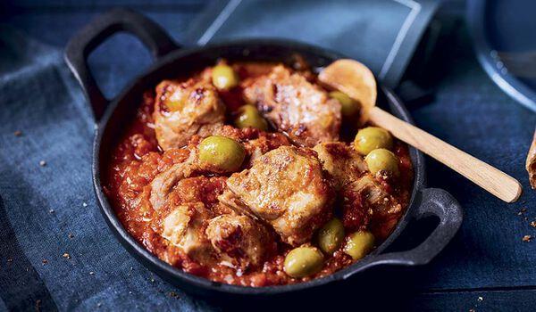 Sauté de porc tomates olives