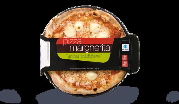 Pizza margherita Italia tomate, mozzarella