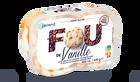 Crème glacée vanille avec sauce au caramel