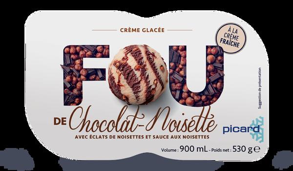 Crème glacée chocolat - noisette