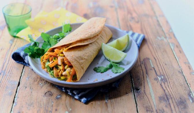 Wrap guacamole, poulet, cheddar