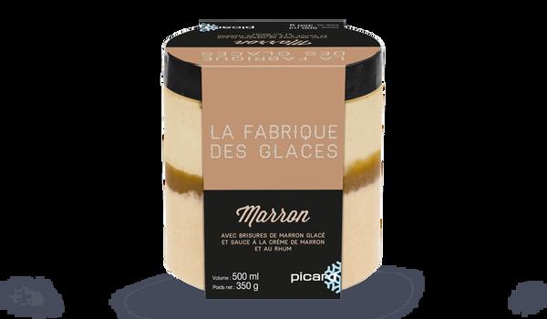 Glace Marron, avec brisures de marron glacé