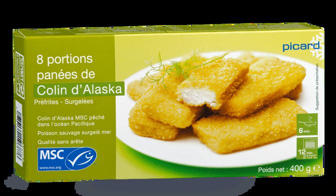 8 portions de colin d'Alaska MSC