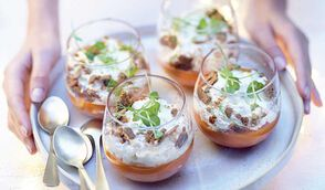 Mousse de carotte citron-miel, chantilly au gingembre