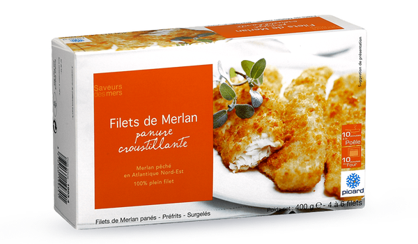 Filets de merlan,panure croustillante,4 à 6 filets
