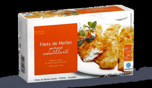 Filets de merlan,panure croustillante,4 à 6 filets