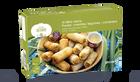 16 mini-nems : poulet-menthe, légumes-coriandre