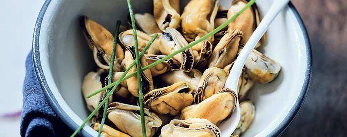 Moules cuites décoquillées bio, élevées Danemark