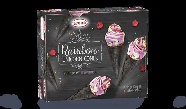 Rainbow unicorn cônes