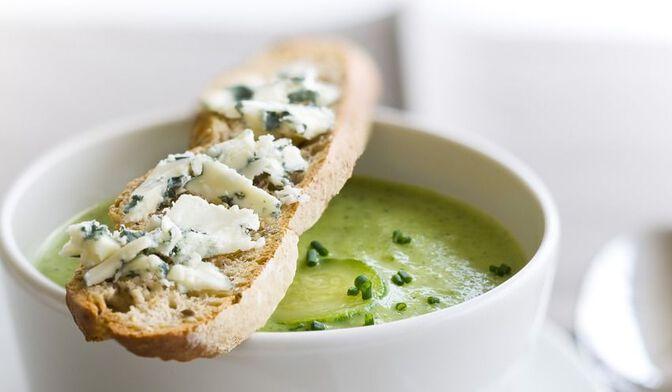 Soupe courgettes bio Roquefort