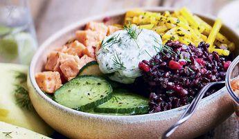 Salad bowl au saumon