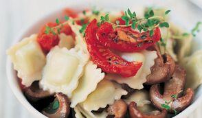 Ravioles aux cèpes et tomates confites
