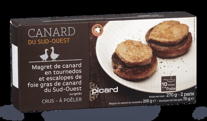 Magret de canard en tournedos et escalopes de foie gras de canard du Sud-Ouest