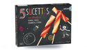5 sucettes,sorbets orange,fraise, framboise,citron