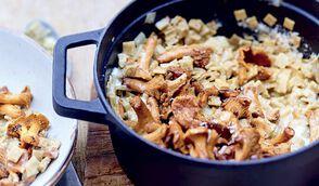 Risotto de crozets aux girolles et parmesan