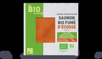 2 grandes tranches saumon bio fumé Ecosse