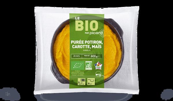 Purée potiron, carotte, maïs bio