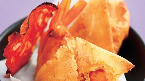 Crevettes en robe de chorizo