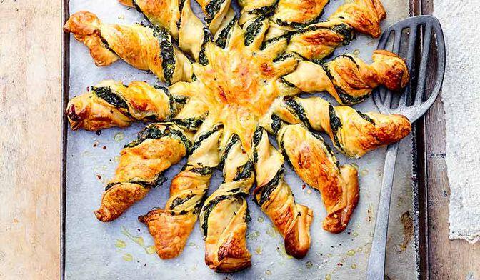 Tarte soleil épinards-ricotta-orange
