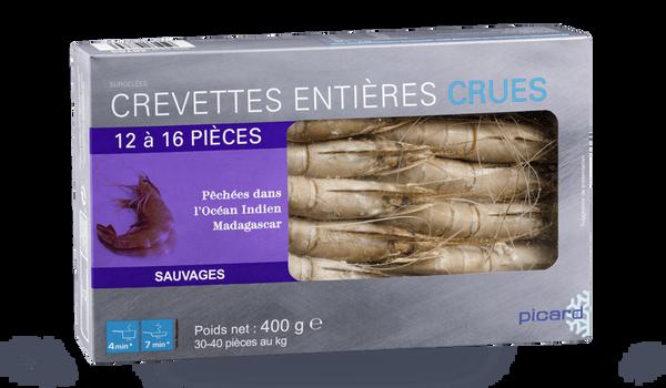 Crevettes crues 12-16 uv, sauvages, Madagascar