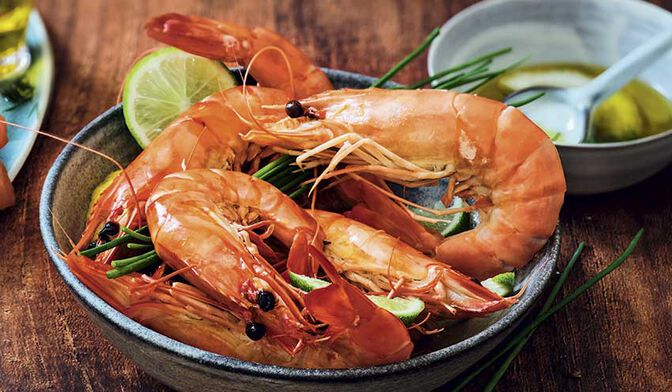 8 crevettes tropicales crues Label Rouge, ASC