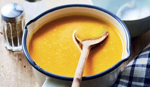 Velouté courge butternut, carotte, navet jaune bio