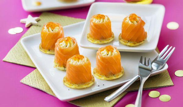 8 bouchées apéritives au saumon