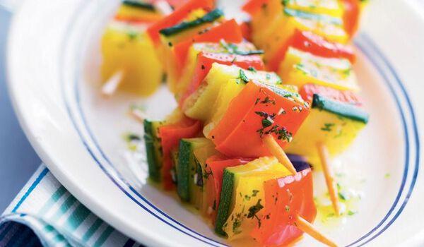 12 mini-brochettes de légumes confits
